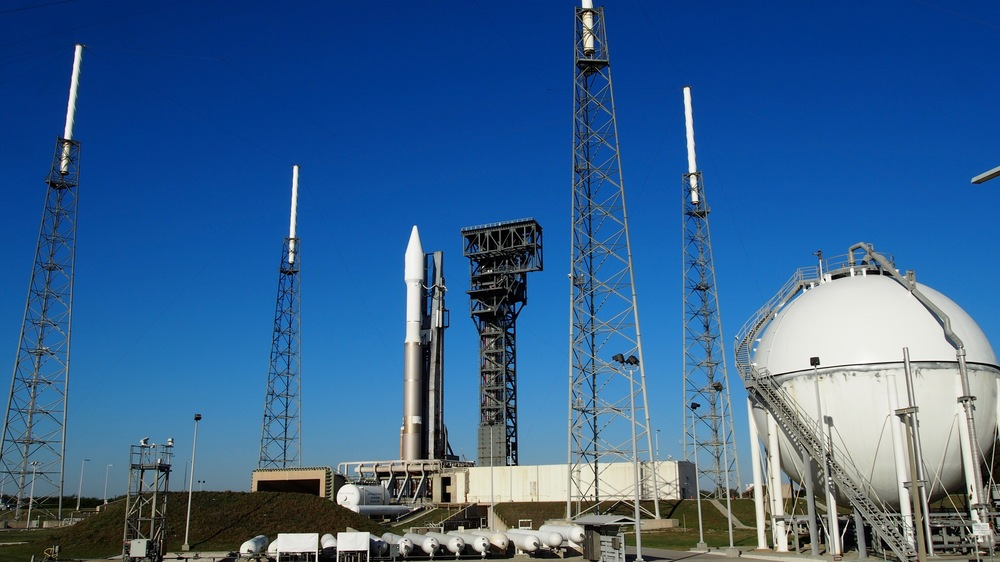 The Atlas V sits at Space Launch Complex 41 at Cape Canaveral Air Force Station. Click to enlarge. Photo Credit: theOrbital.space/Josh Dinner