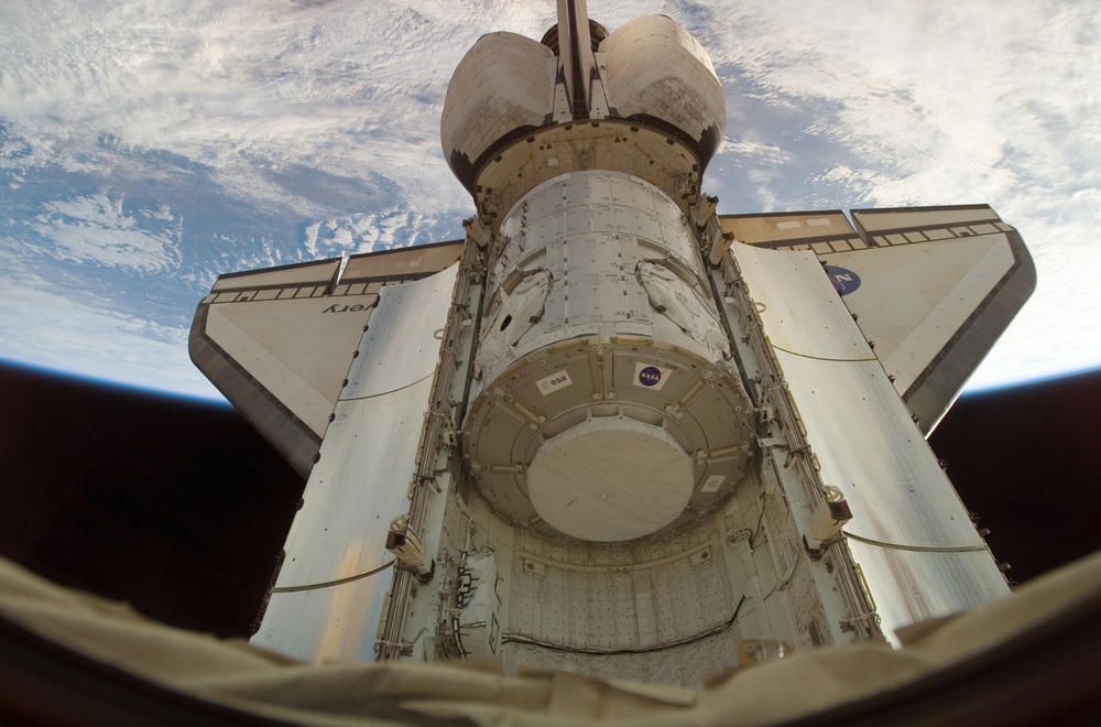 Harmony module sits in the cargo bay of Space Shuttle Discovery during STS-120. Photo credit: NASA