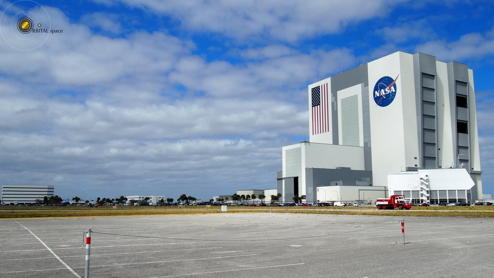 VAB, from press parking lot