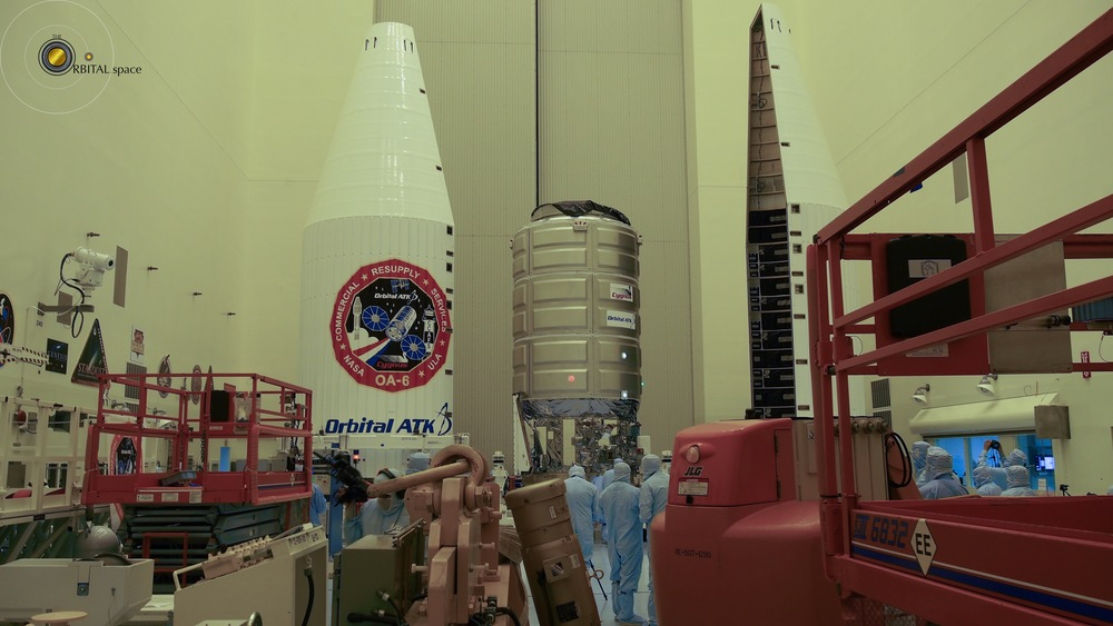 Cygnus and Payload Fairing in PHSF