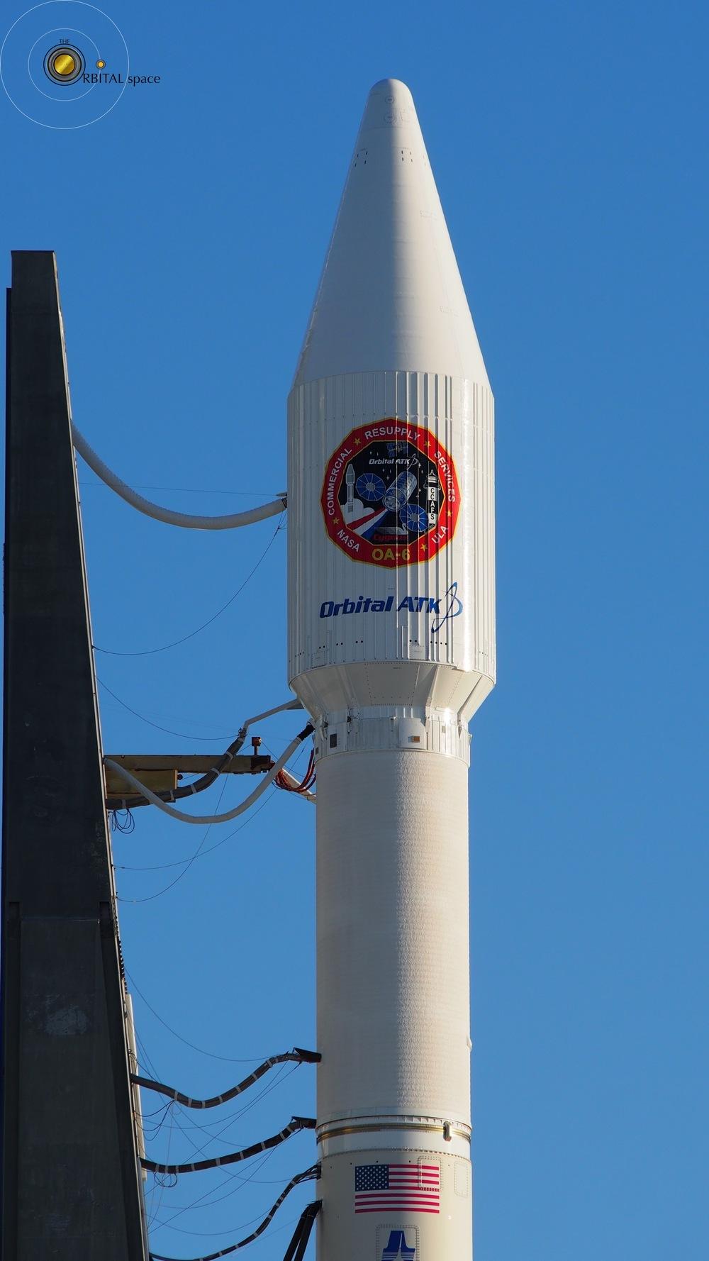 Cygnus OA-6 mated to Atlas-V Rocket
