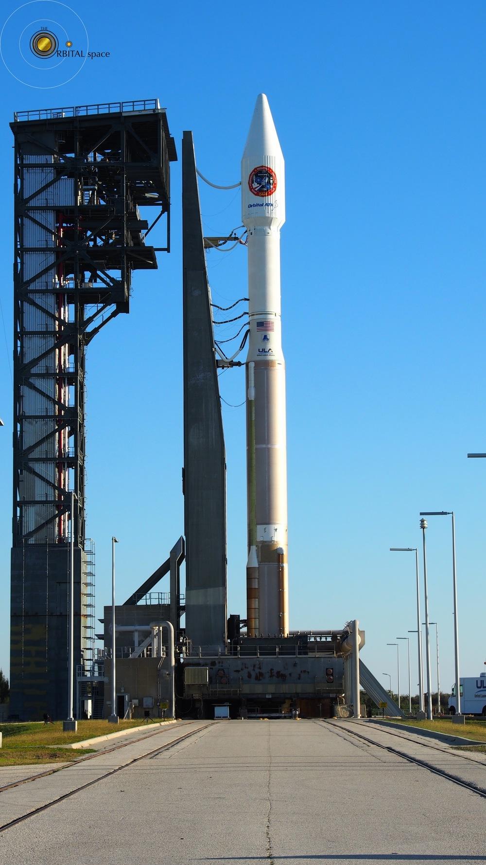 Atlas-V Cygnus OA-6 on Launchpad