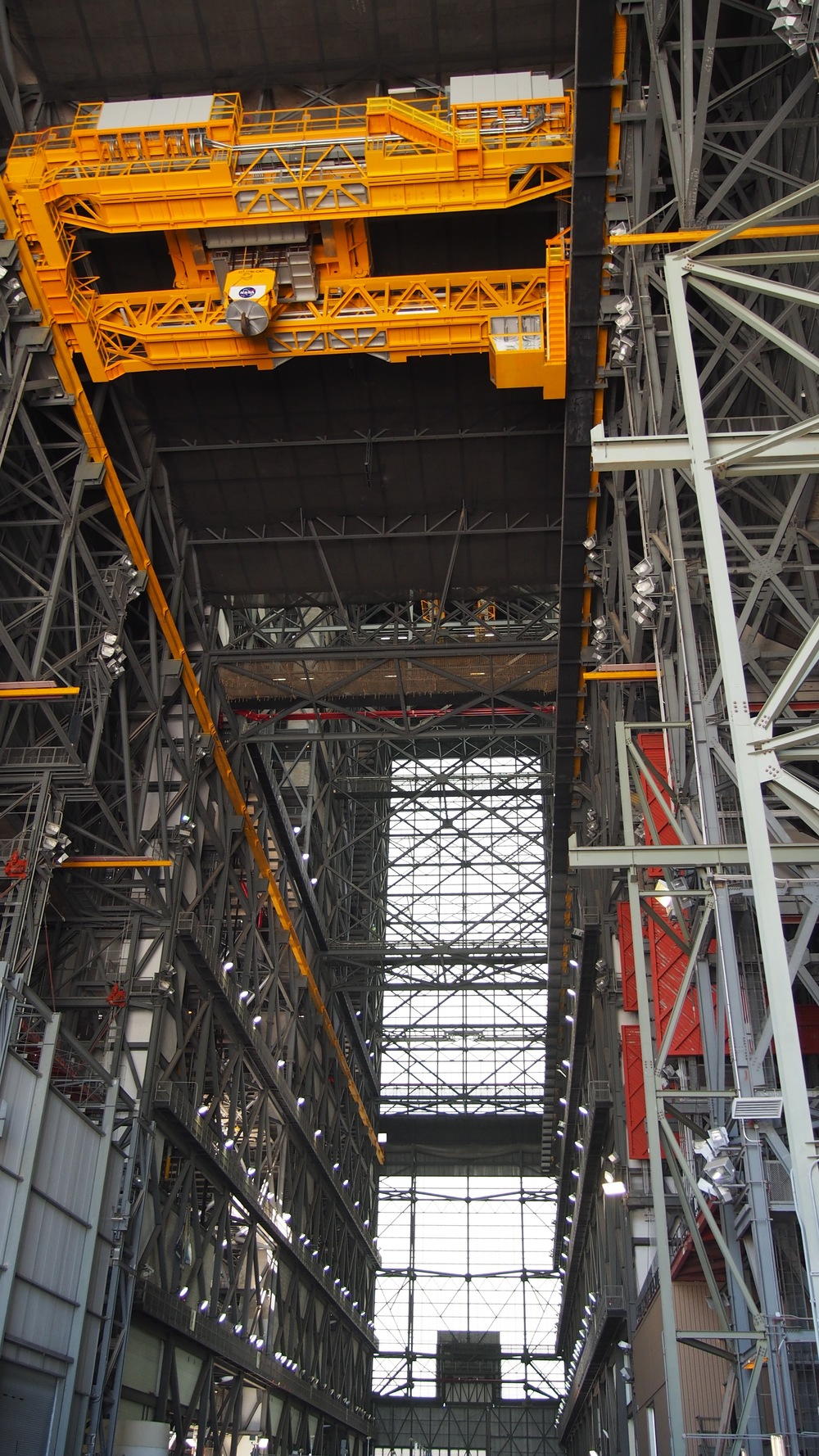 Looking up inside the VAB