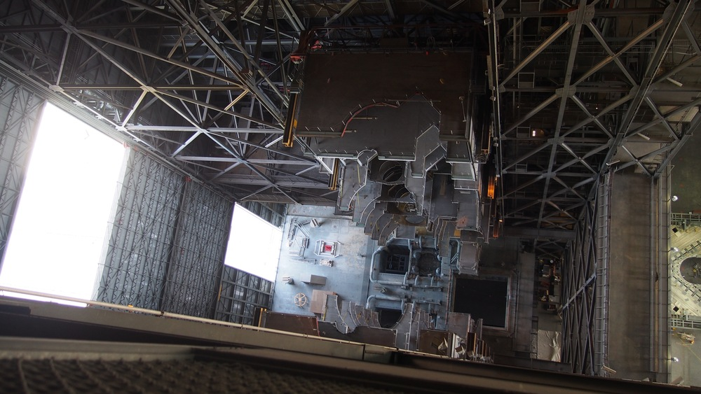 Looking down at the new SLS platforms inside the VAB