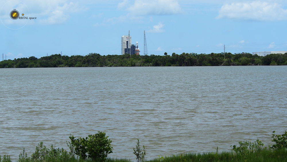 Delta IV Heavy from launch viewing area