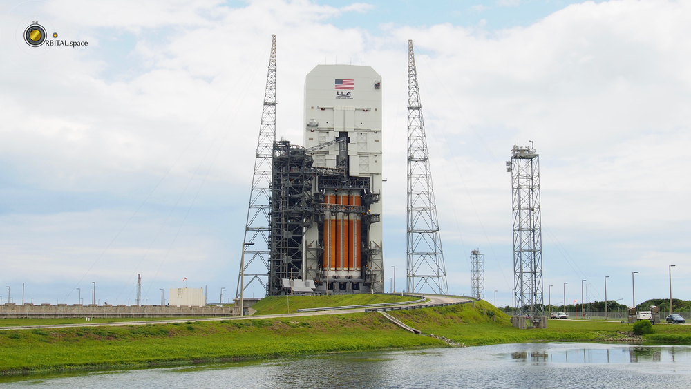 Delta IV Heavy prior to Mobile Service Tower rollback