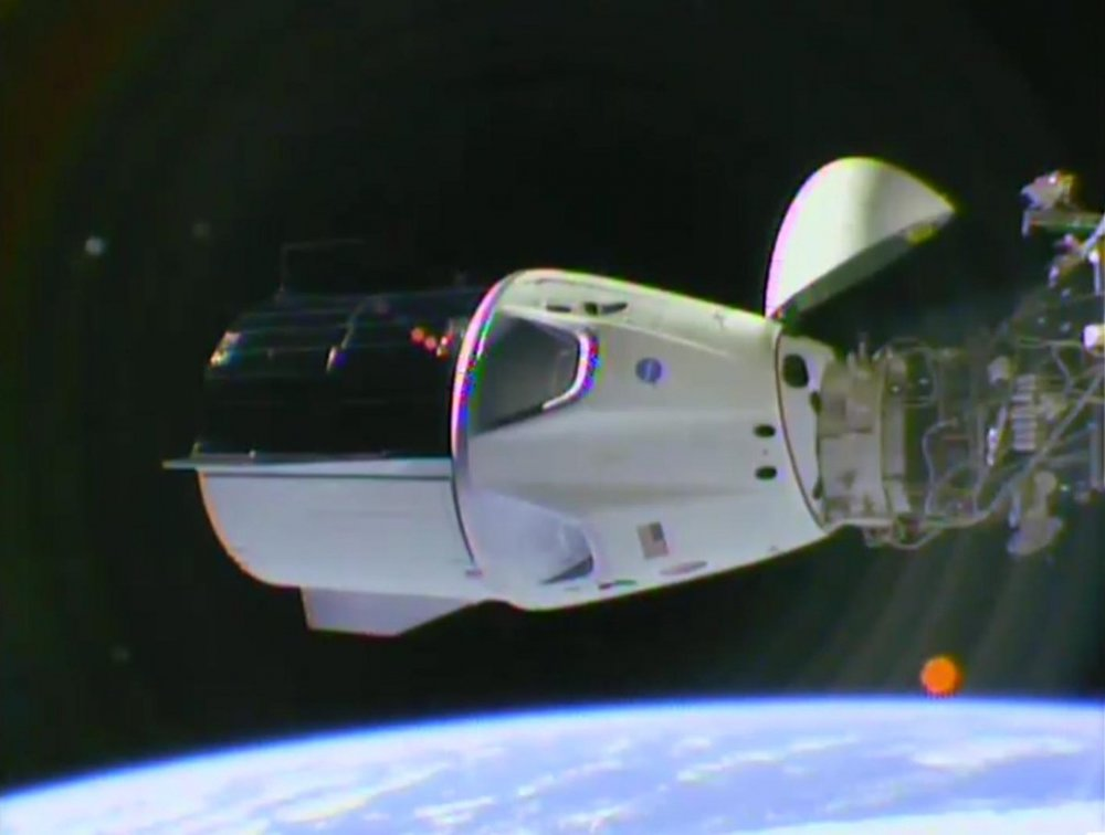 Crew Dragon docked with ISS. Image credit: NASA