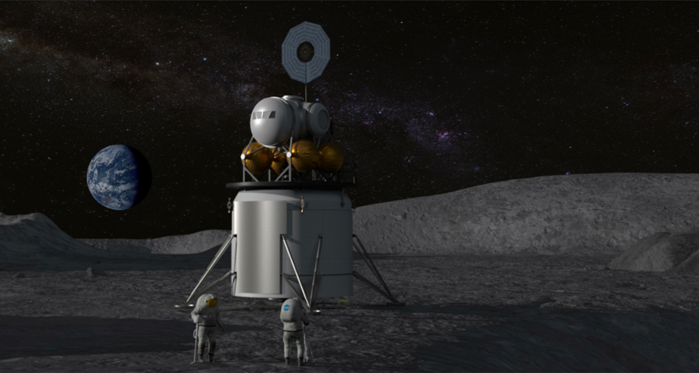 Artistic rendering of a lunar lander concept for NASA's deep-space program and a return to the Moon. Image credit: NASA