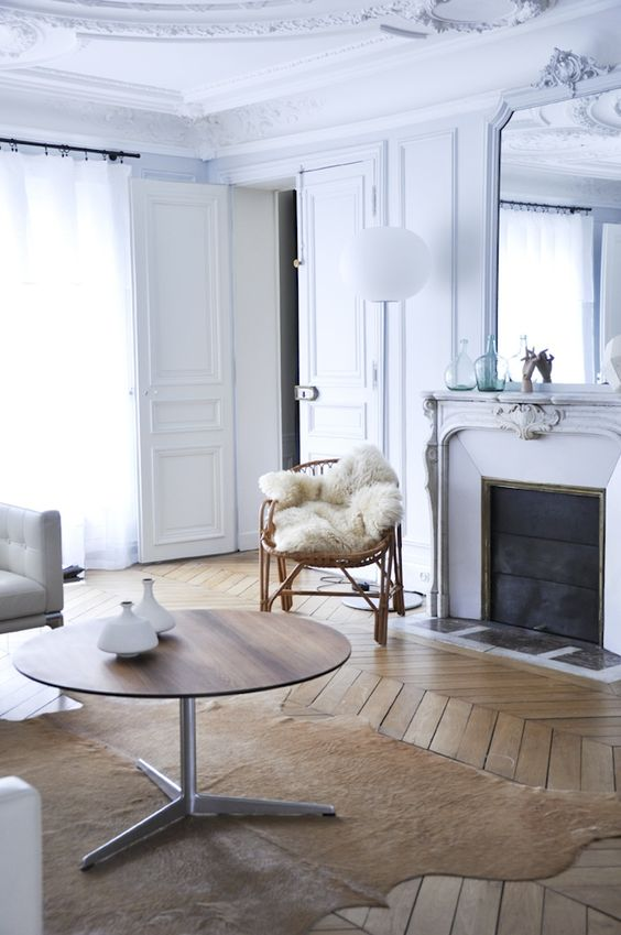 Quintessential herringbone floors