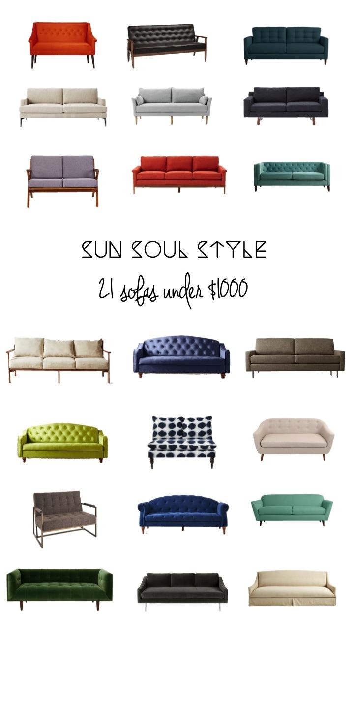 Sun Soul Style 21 Sofas Under $1000