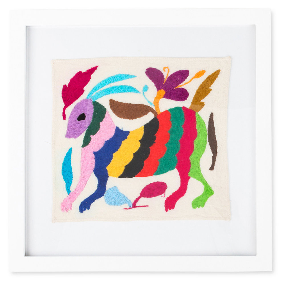 Framed Otomi Art  via Burke Decor