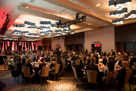 The room was filled to the brim for the event held at the Hyatt Regency