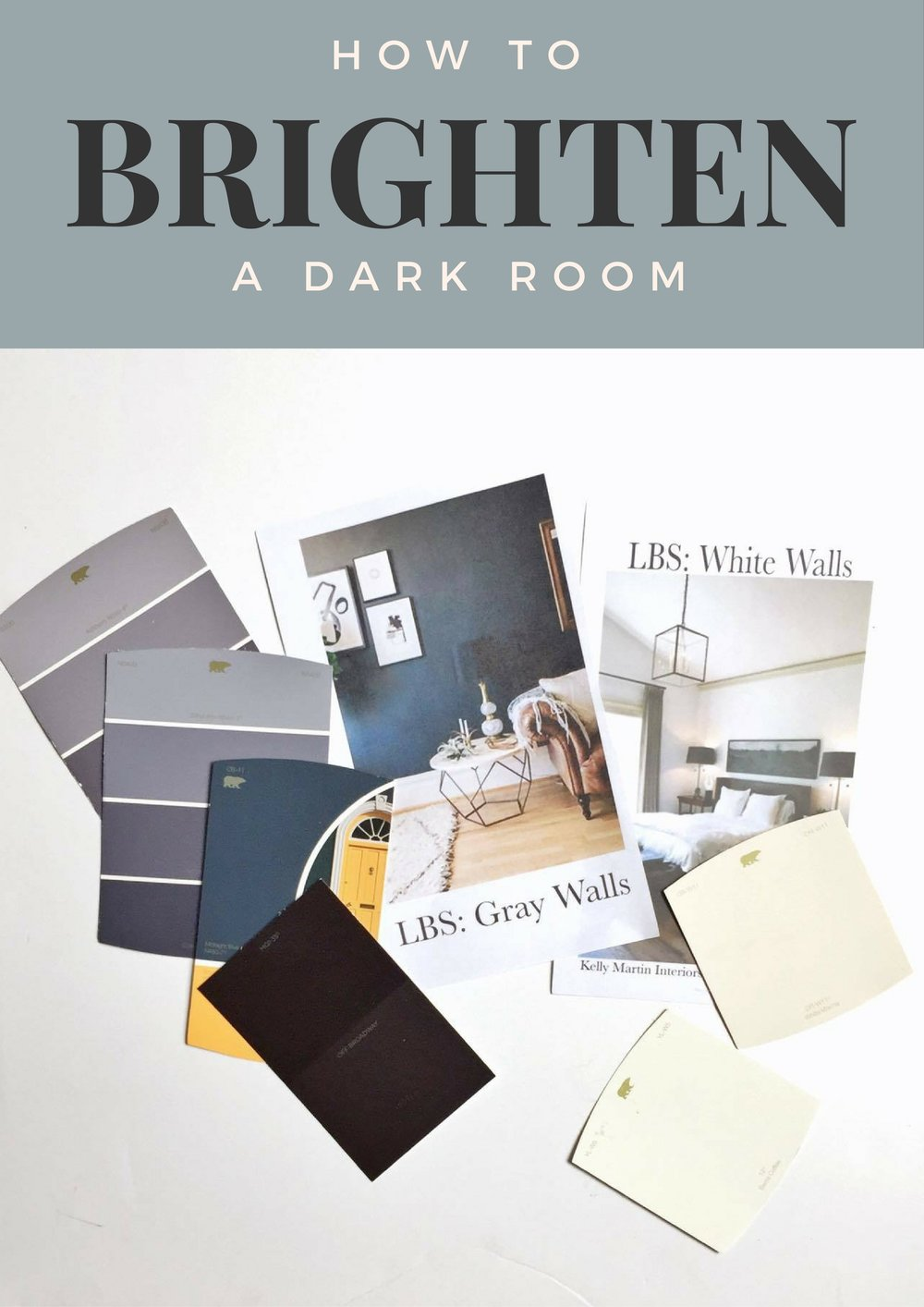 how to brighten a dark room decor on a budget little