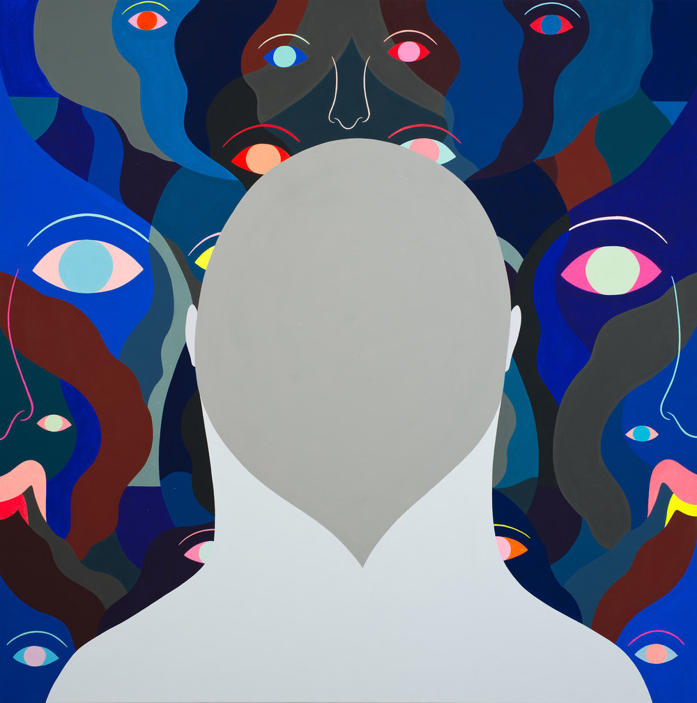 Void Painting, (blue), (15 eyes)