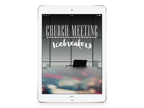 Church Meeting Icebreakers