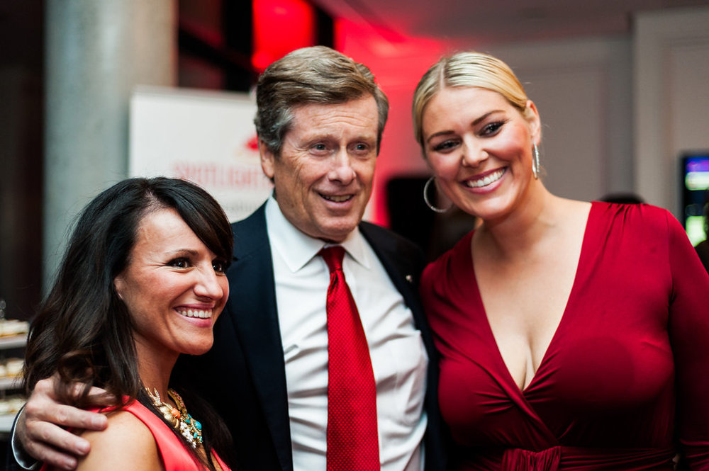 Mayor John Tory with guests Vanessa Donnan and Laura Cipolla