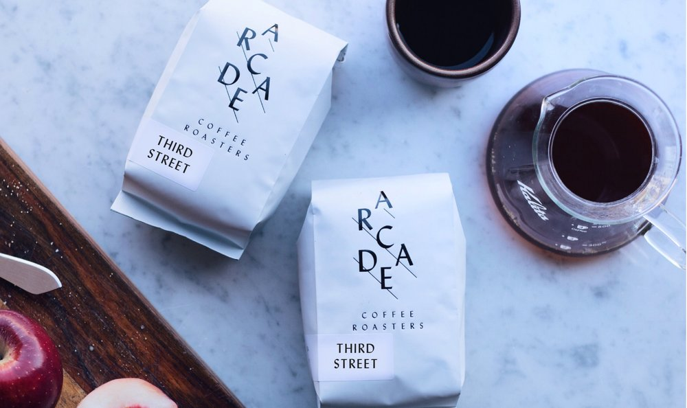 Two Bags of our Third St. Blend delivered to your door each Month