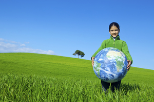Child in a field. Links to learn more about california climate investments