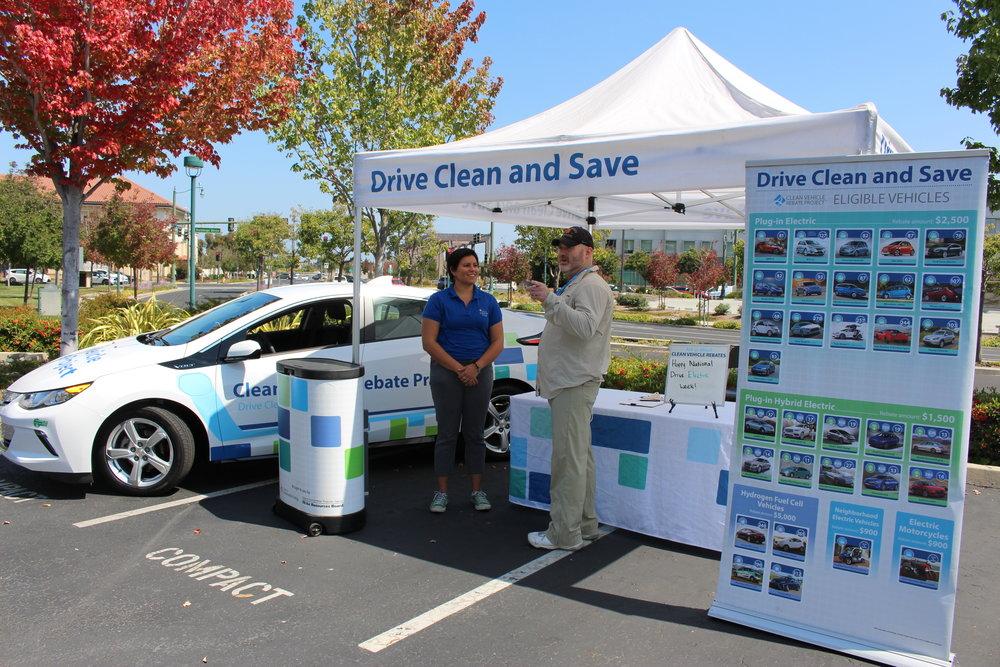 CVRP staff assist an interested Californian at an outreach event