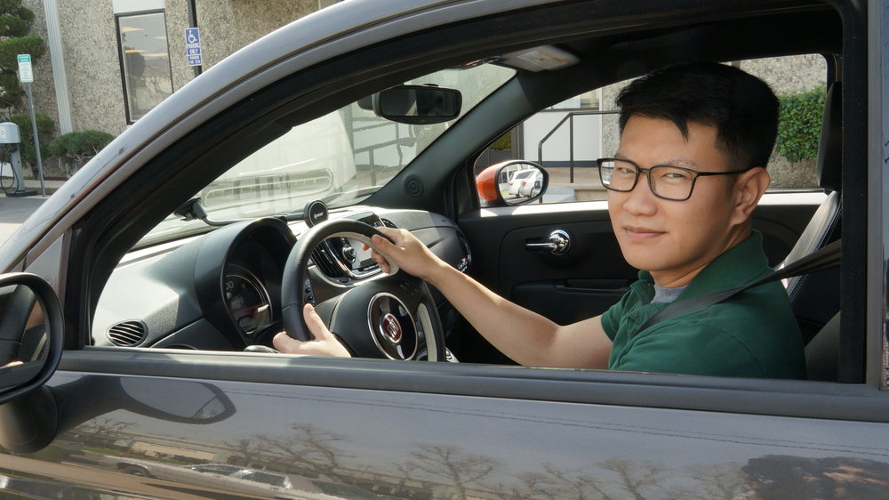 Jimmy Chang in his new clean car
