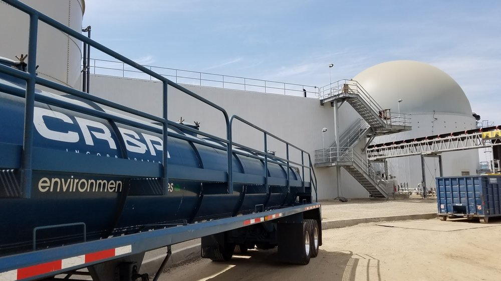 CR&R truck and digester