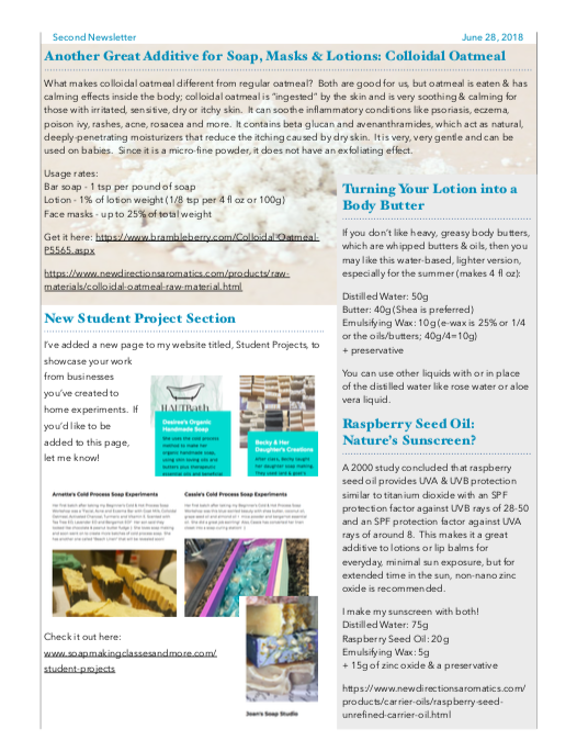 Second Newsletter, Page 2 - June 2018