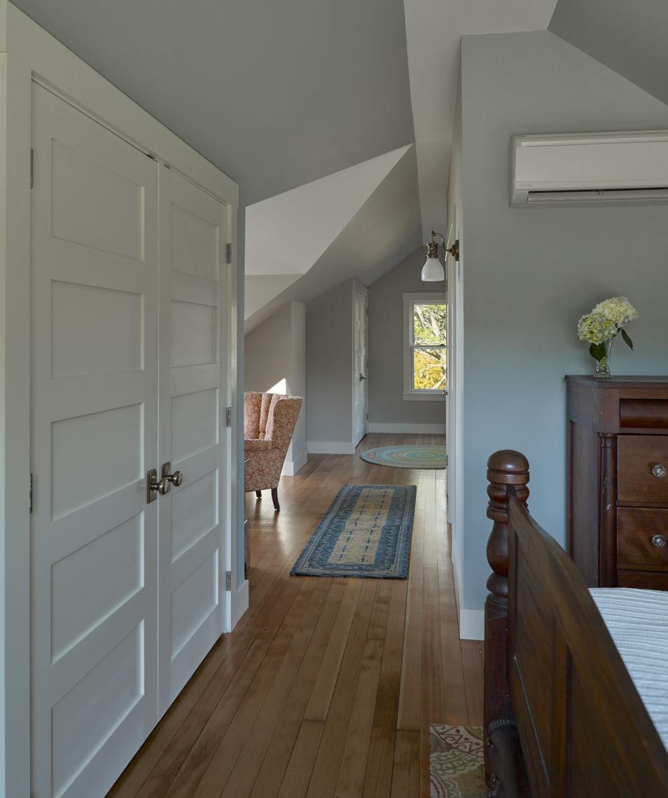 NEW MEADOWS RETREAT  Master bedroom looking toward reading nook