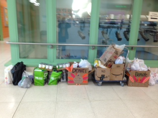 Check out all of our food donations for the st. mary's food pantry!!