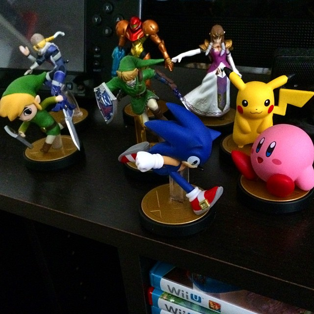 Added Sonic and Kirby #Amiibo by luck today. Also got a second Sonic in hopes of trading for a Megaman! #Nintendo