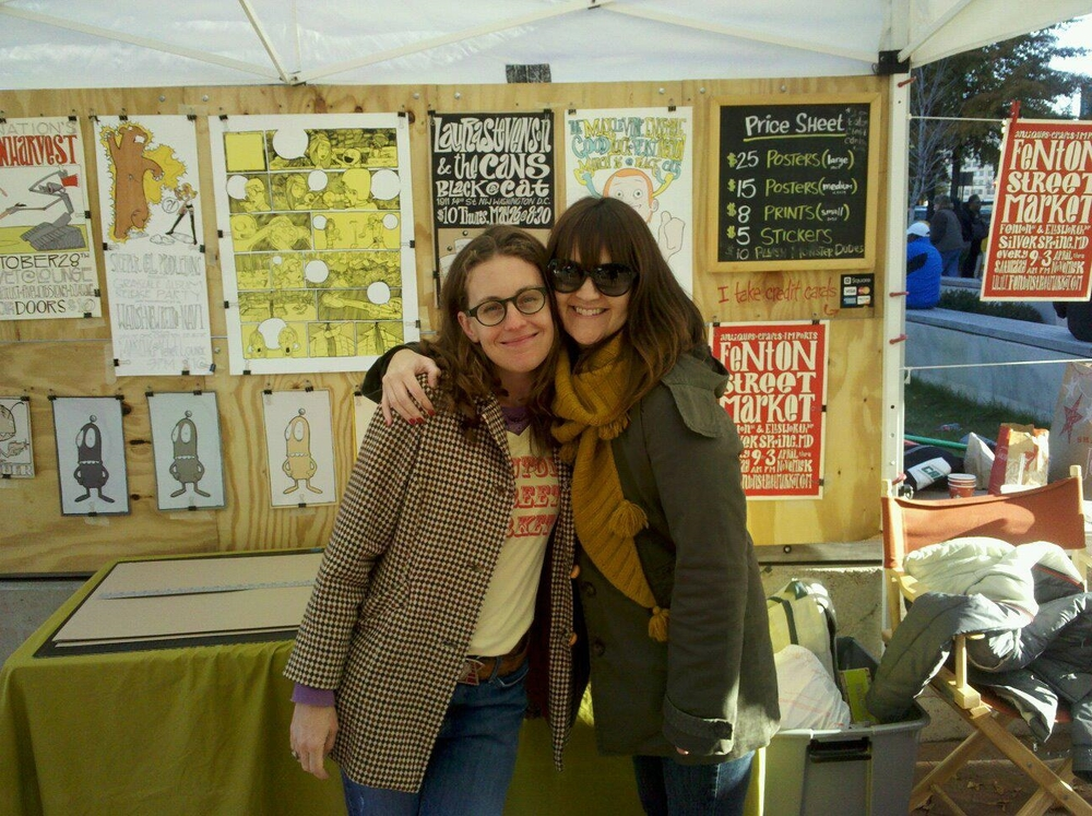 Mike O'Brien of  Red Table Press  did the signature branding for FSM in 2010 that we still use today. Pictured above: original FSM staff, Hannah McCann and Debbie Lee in Mike's market booth.