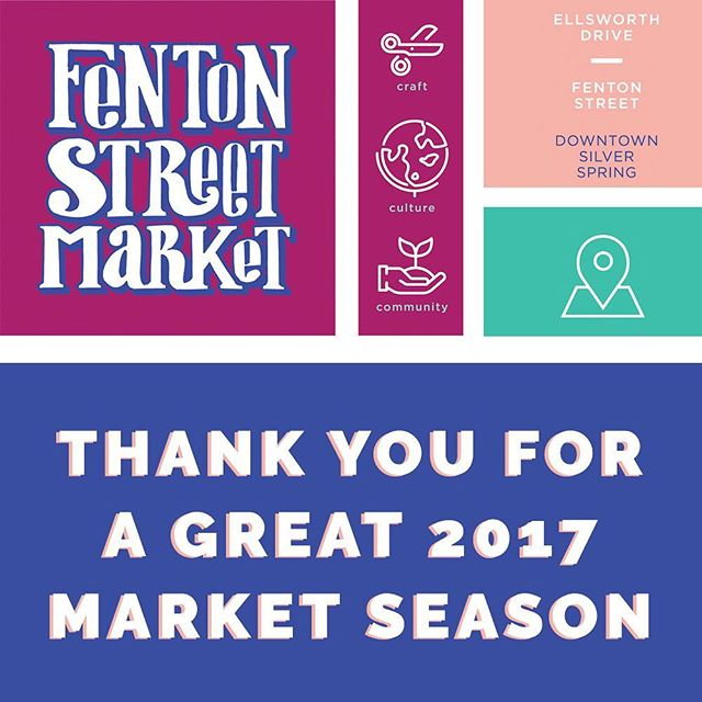 We want to thank you for an incredible market season. Our partnership with Downtown Silver Spring to do the Second Sundays and Holidaze market was a success. We appreciate you believing in us and continuing to support crafts, culture and community.  We will now retreat for the holidays but re-emerge in early 2018 with information about the market plans for next year. Sign up for our Mailing List for updates - Link in Bio!  We are wishing you and yours well over this holiday season! #FentonFinds #DTSilverSpring