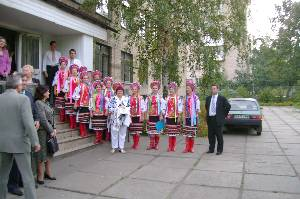 And our team was warmly welcomed by a Ukrainian group in traditional costumes.