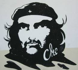 Everywhere is the classic picture of Che.