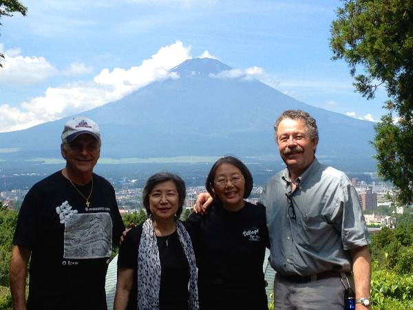 She took Jolene, Dr. Lerer, and me to a Y camp up in the mountains which had a beautiful view of Mount Fuji, which is usually shrouded in clouds.