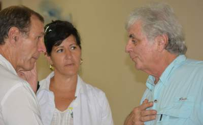 Dr. Lerer, (on right) with Cuban physicians.
