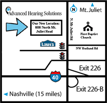 Image of driving directions to office location.