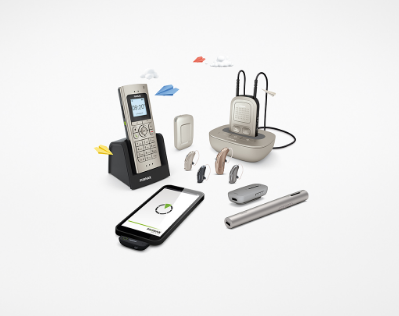 Various hearing aid systems and phone hookups