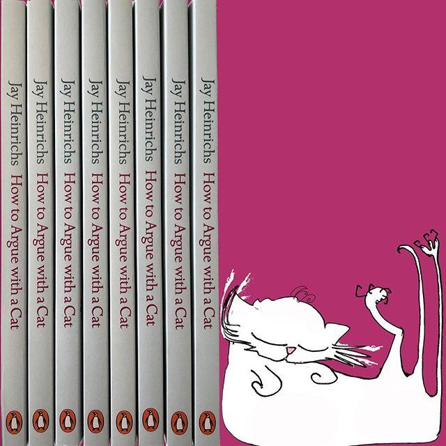 Have a happy #caturday!  #HowToargueWithACat #cat #cats #persuasion #sleepycat #lazycat #ilovemycat #kitten #kittens #book #bookworm #naughtykittens #crazycatlady #catsandbooks #newkitten #persiancat #ilovebooks #chat #neko #gato #gatto #ilovemycat #crazycatladyproblems #catsofinstagram #catsandbooks #booksandcats #booksofinstagram #jayheinrichs #nataliepalmersutton