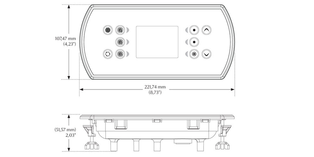 Dimensions du clavier in.k800