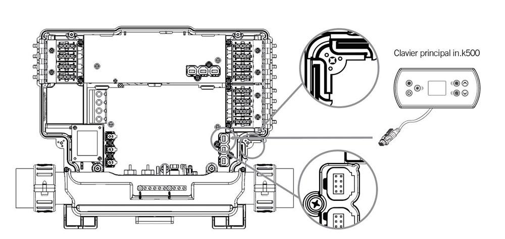 Connecter le in.k500 au contrôle de spa série Y