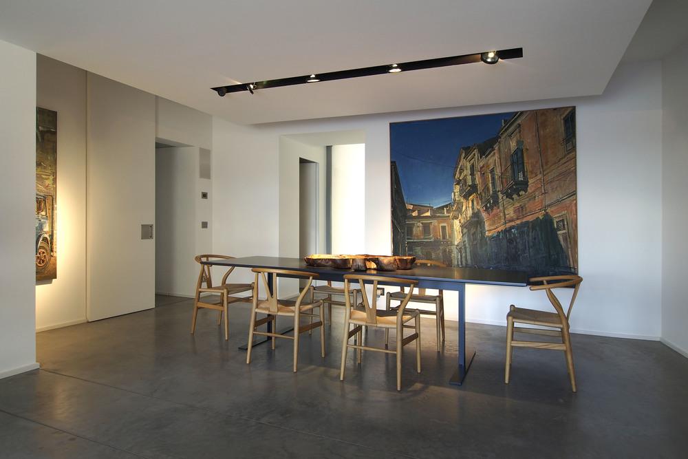 Tavolo   Luxor ,   Cappellini   |  Sedie   CH24 ,   Carl Hansen