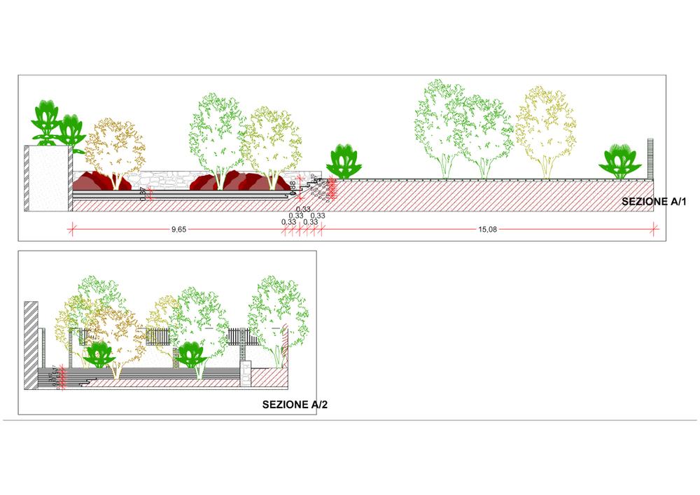 casa vs - sezione giardino
