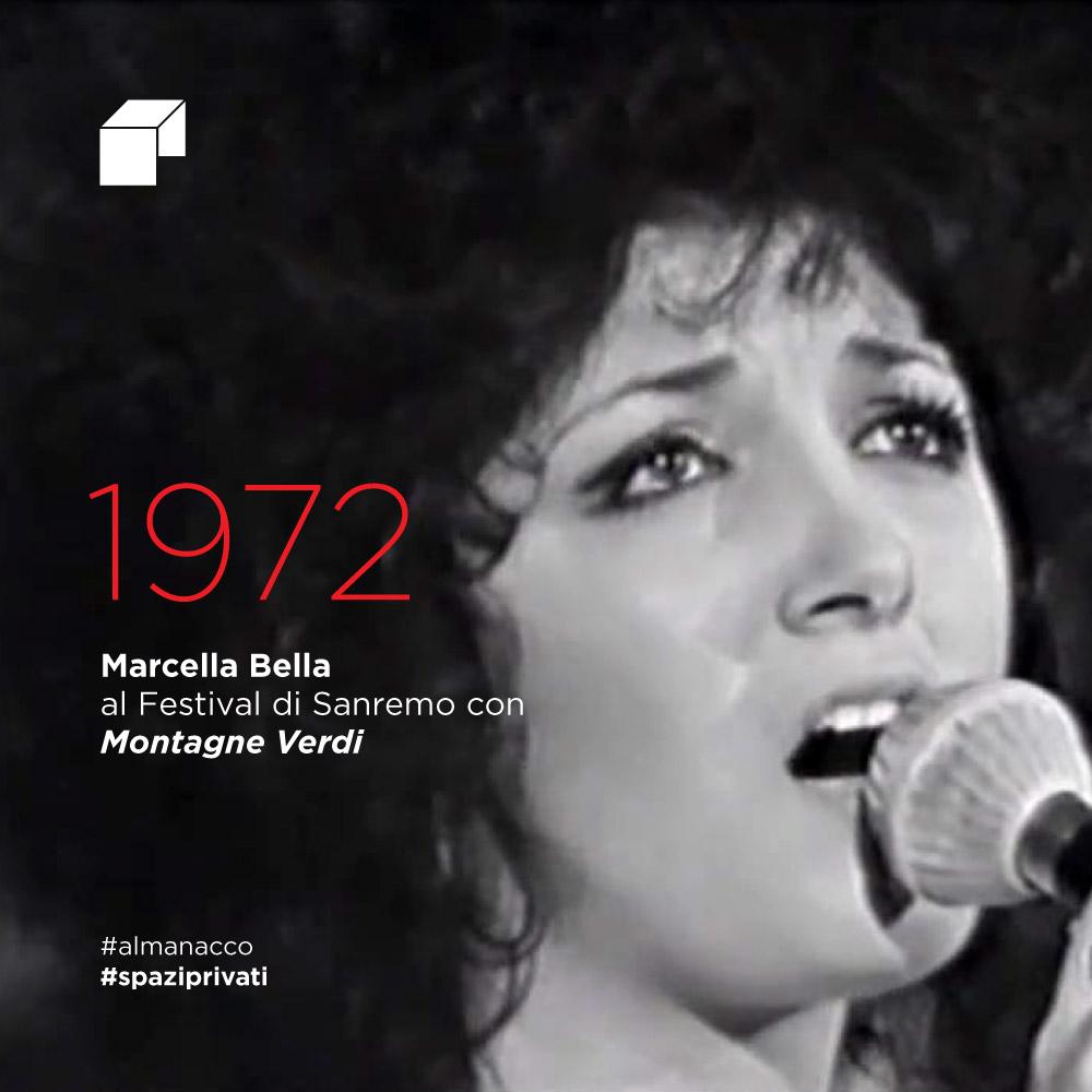 Marcella Bella al Festival di Sanremo con Montagne Verdi