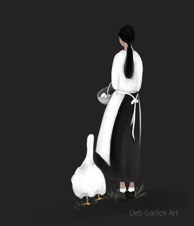 Goose Girl - Illustration