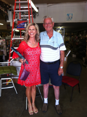 Willis Horton and me at E. Daniel Hardware Store in Marshall, Arkansas, his home town.