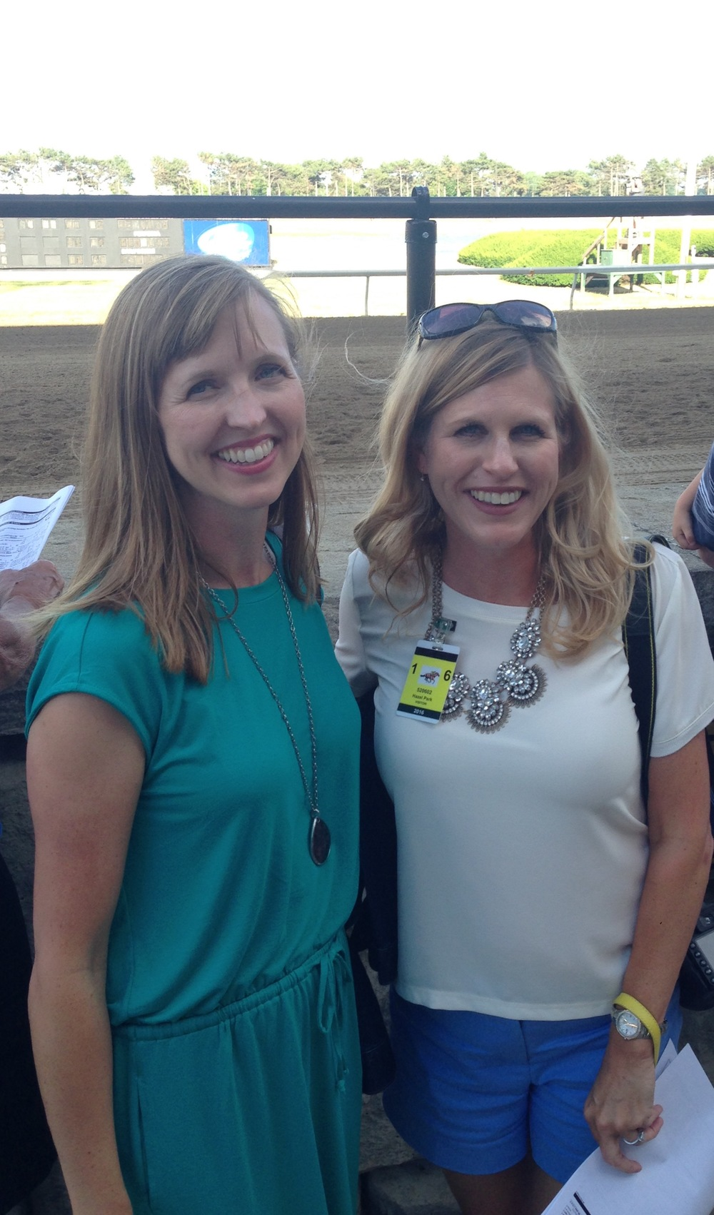 My sister, Anne Nichols, and me at Hazel Park.