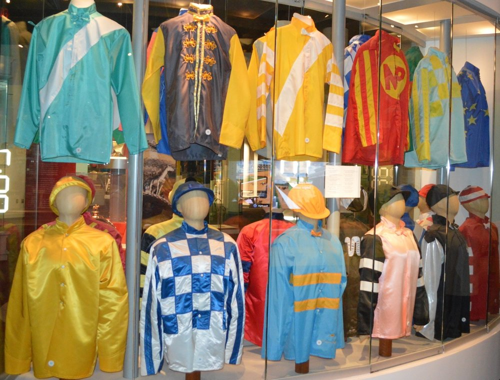 Winning colors at the Kentucky Derby Museum.