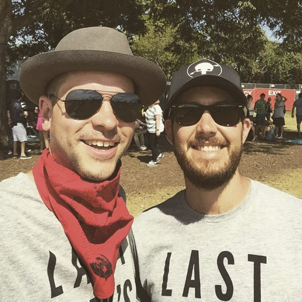 Kevin (left) and Derek (right) covering ACL 2015.