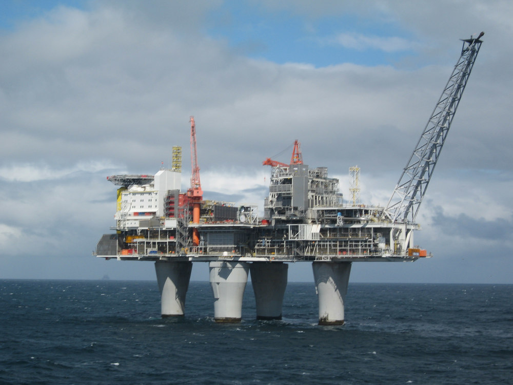 Troll oil platform, built to compensate for sea level rise.