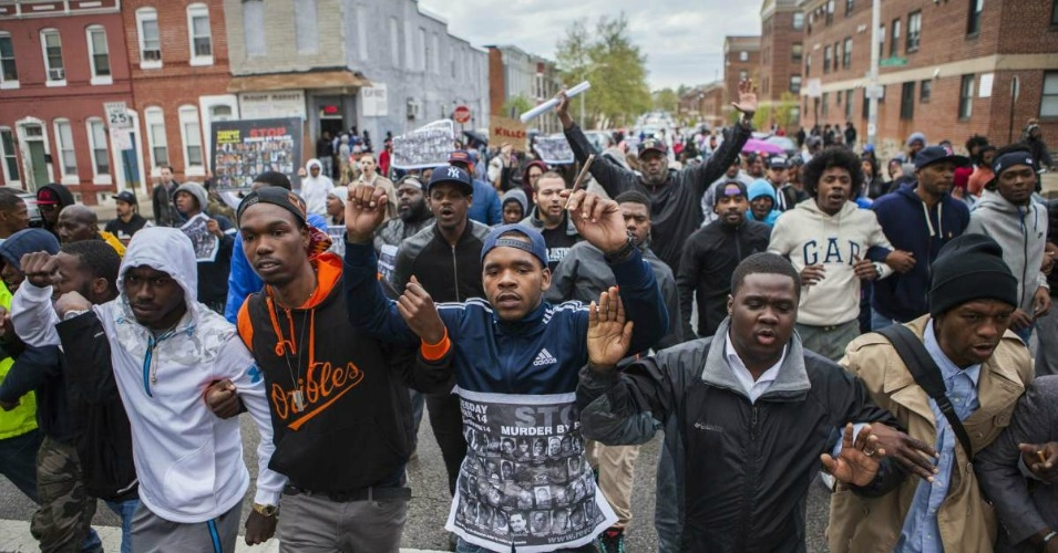 April 2015, Baltimore protest of the murder of Freddie Gray